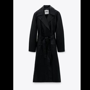 Limited Edition faux leather trench coat